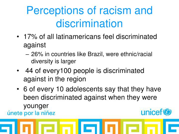 Perceptions of racism and discrimination