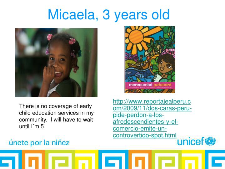 Micaela, 3 years old