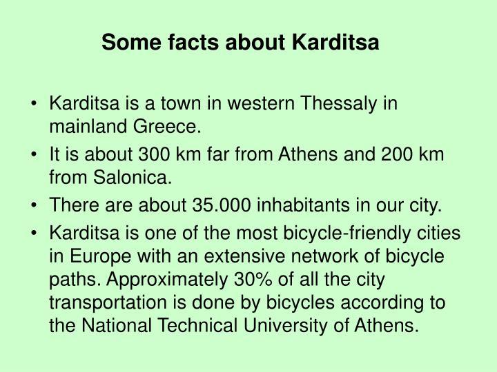 Some facts about Karditsa
