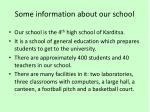 some information about our school