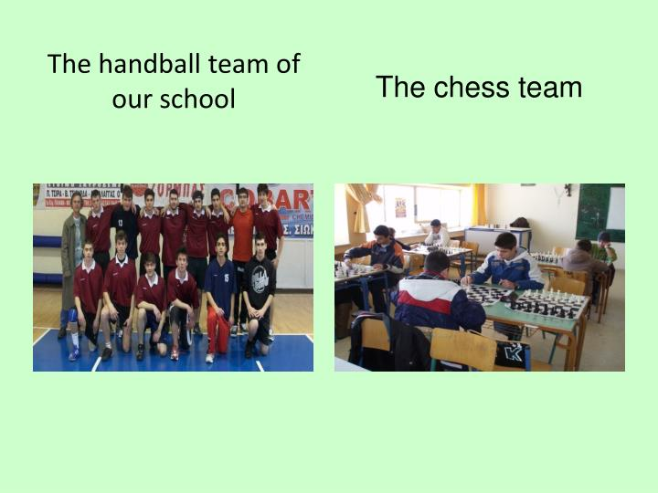 The handball team of our school