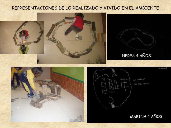 REPRESENTACIONES DE LO REALIZADO Y VIVIDO EN EL AMBIENTE