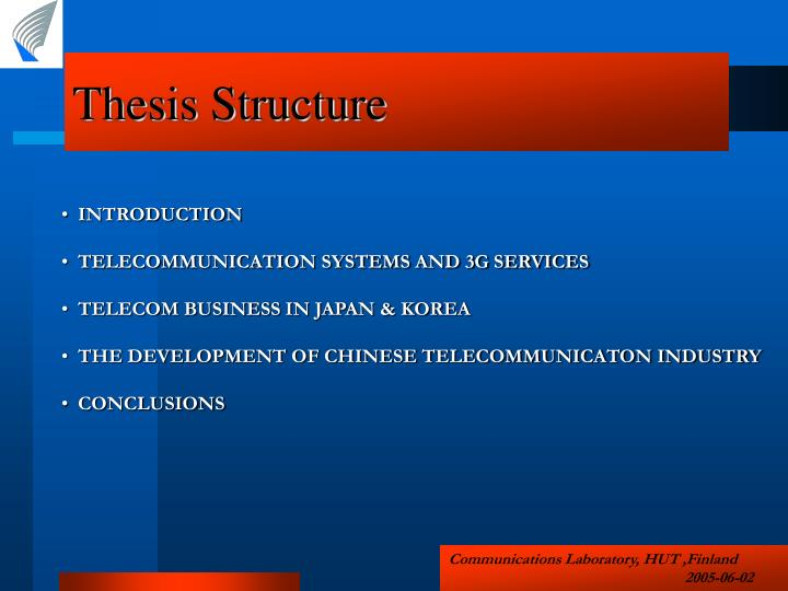 Thesis Structure
