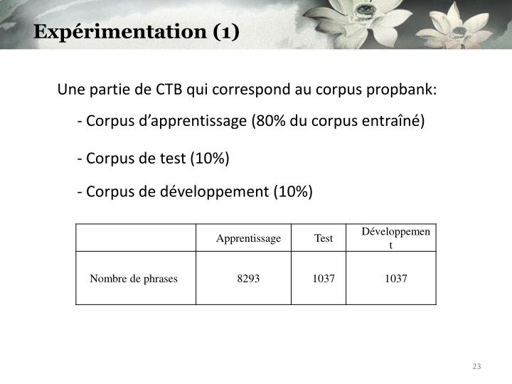 Expérimentation (1)