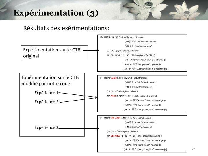 Expérimentation (3)