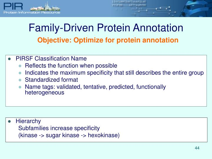 Family-Driven Protein Annotation