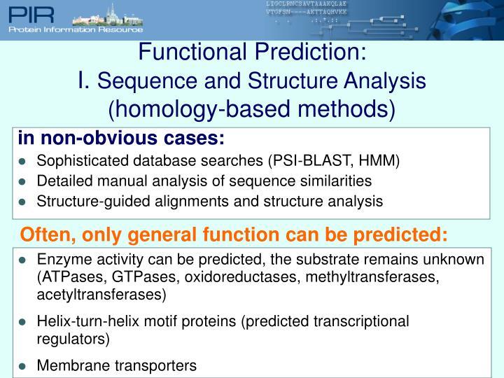 Functional Prediction: