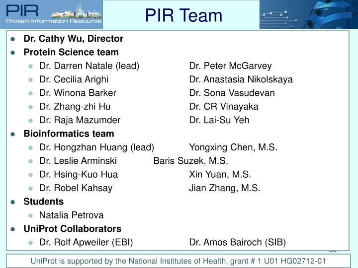 PIR Team