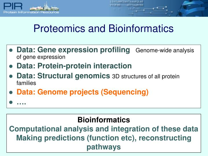 Proteomics and Bioinformatics