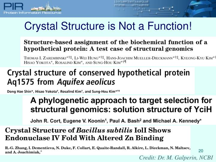 Crystal Structure is Not a Function!