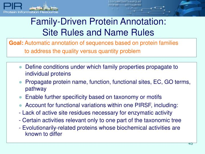 Family-Driven Protein Annotation: