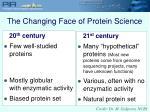 the changing face of protein science