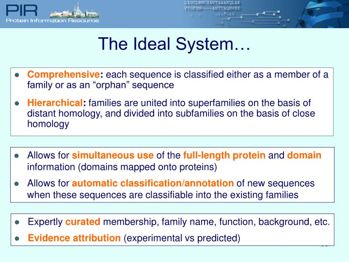 The Ideal System…