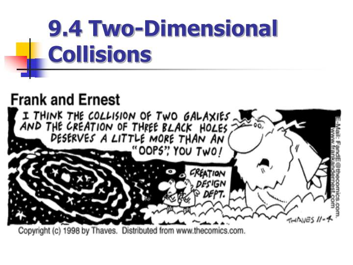 9 4 two dimensional collisions