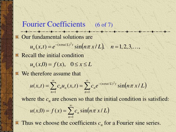 Fourier Coefficients
