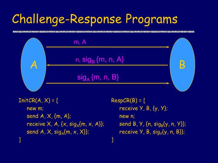 Challenge-Response Programs
