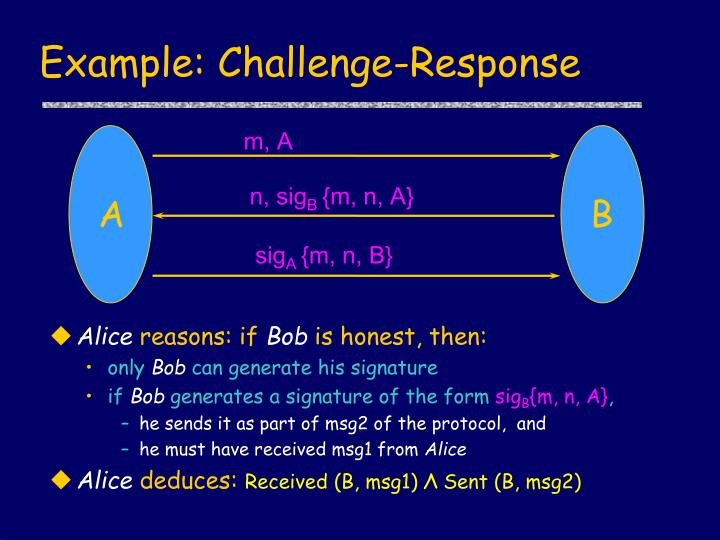 Example: Challenge-Response