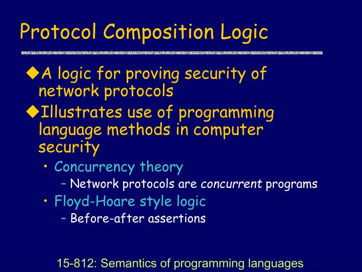 Protocol Composition Logic