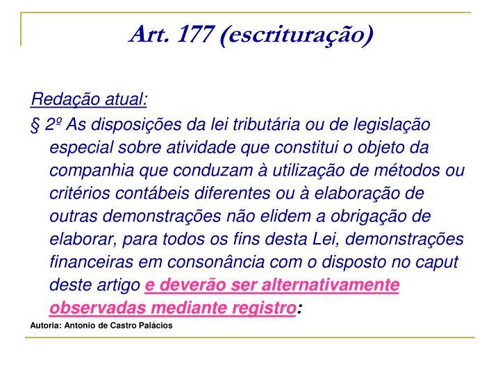 Art. 177 (escrituração)