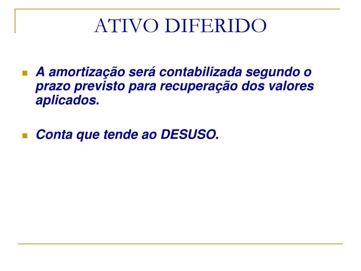 ATIVO DIFERIDO