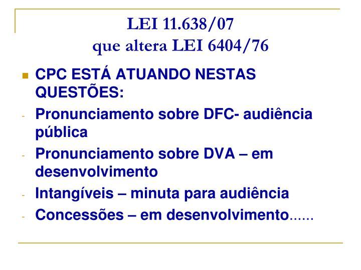 LEI 11.638/07