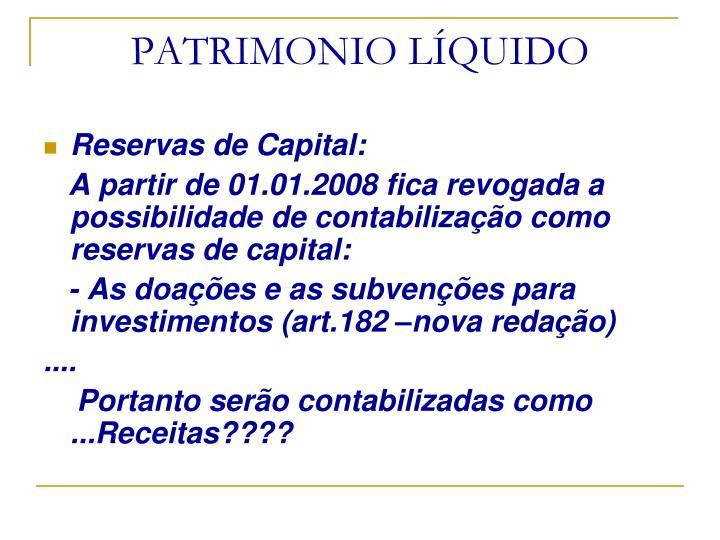PATRIMONIO LÍQUIDO