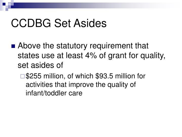 CCDBG Set Asides