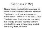 suez canal 19563