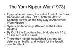 the yom kippur war 19732