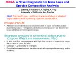 hicat a novel diagnostic for mass loss and species composition analysis