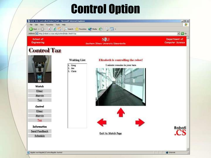 Control Option