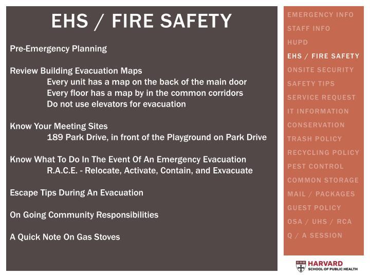 Pre-Emergency Planning