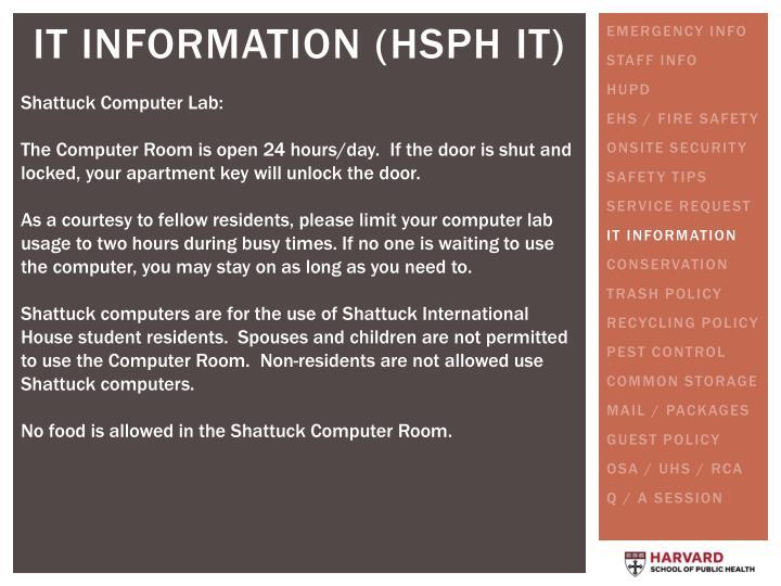 Shattuck Computer Lab: