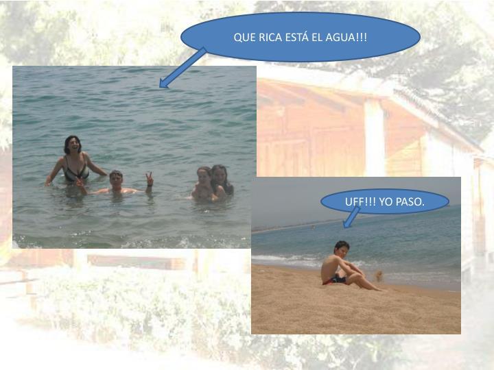 QUE RICA ESTÁ EL AGUA!!!