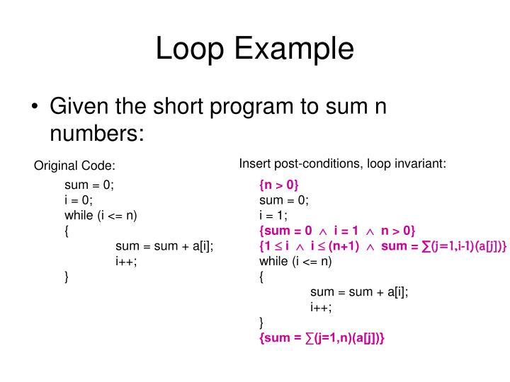 Loop Example