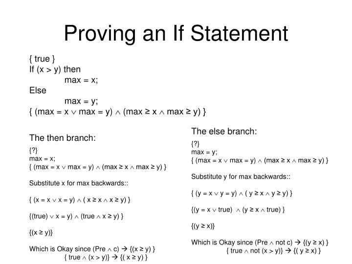 Proving an If Statement