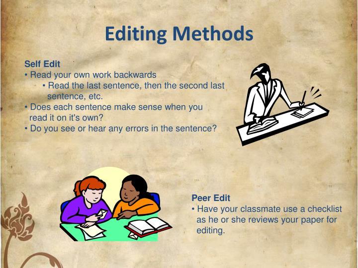 Editing Methods