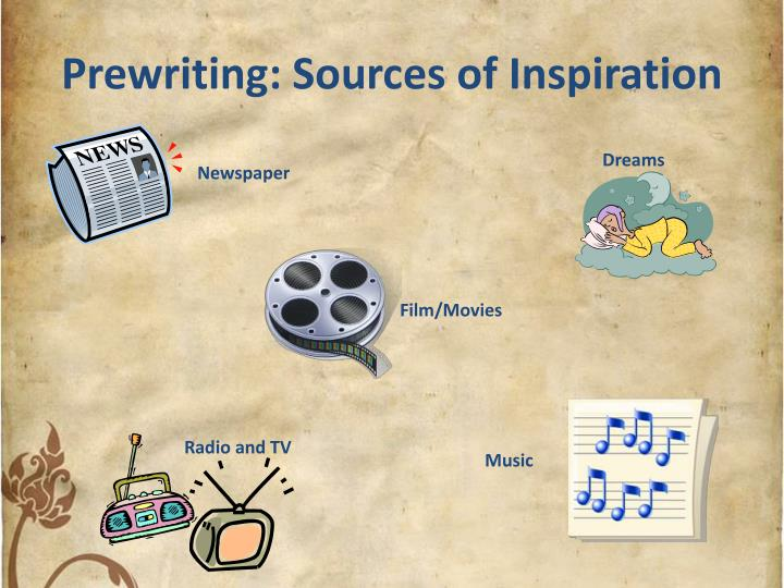 Prewriting sources of inspiration