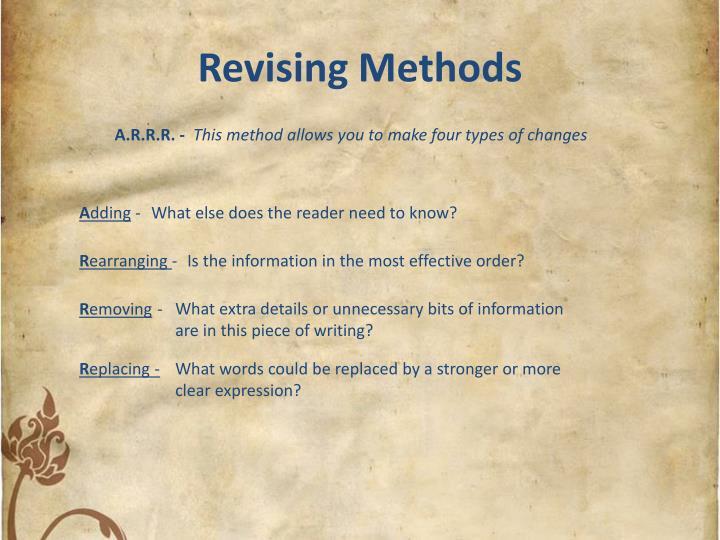 Revising Methods