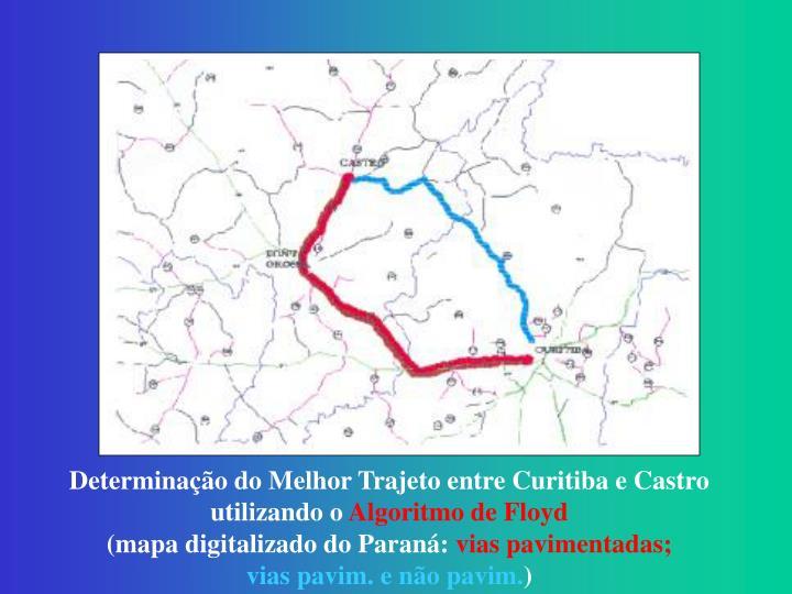 Determinação do Melhor Trajeto entre Curitiba e Castro utilizando o