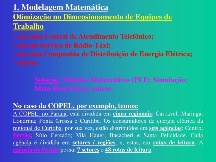 1. Modelagem Matemática