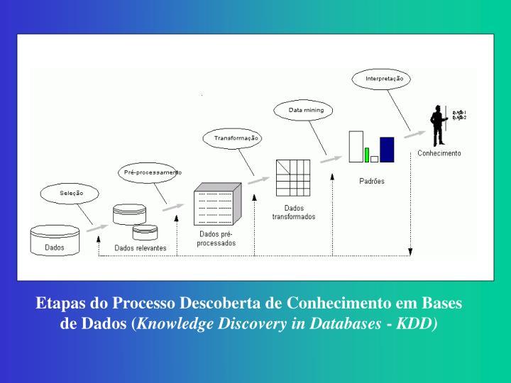 Etapas do Processo Descoberta de Conhecimento em Bases de Dados (