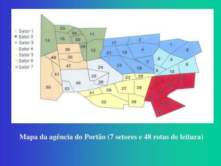 Mapa da agência do Portão (7 setores e 48 rotas de leitura)