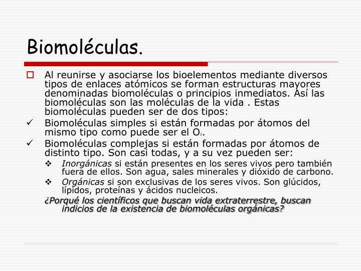 Biomoléculas.