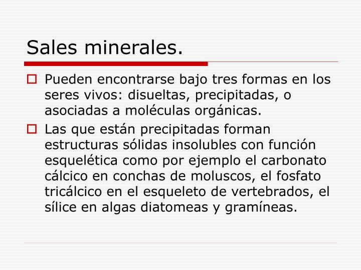 Sales minerales.