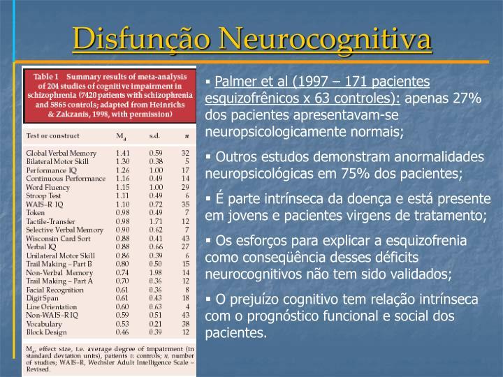 Disfunção Neurocognitiva