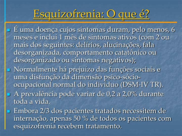 Esquizofrenia: O que é?