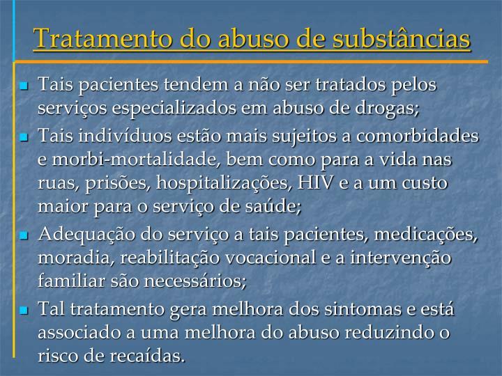 Tratamento do abuso de substâncias