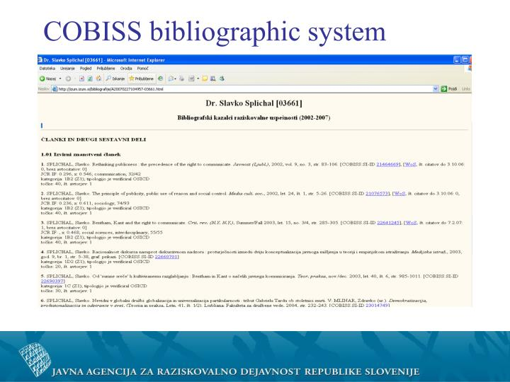 COBISS bibliographic system