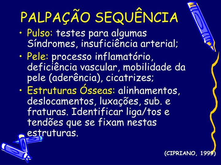 PALPAÇÃO SEQUÊNCIA